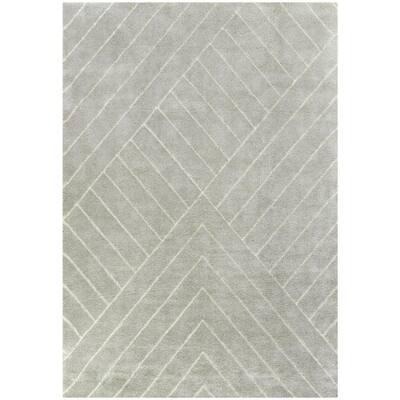 Flynn Light Grey 8 ft. x 10 ft. Contemporary Area Rug