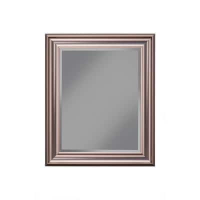 Medium Rectangle Silver Beveled Glass Mirror (30 in. H x 36 in. W)