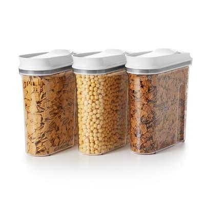 Good Grips 3.4 qt. Medium POP Cereal Dispenser with Airtight Lid (3-Pack)