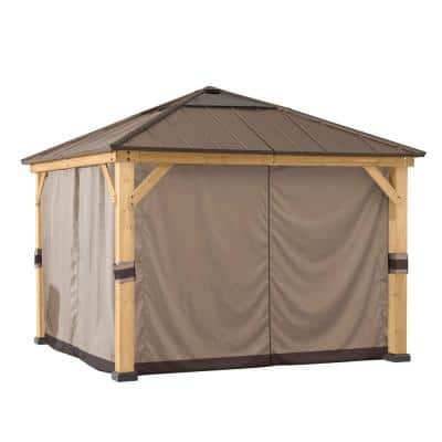 Original Manufacturer Universal Replacement Curtain for 9 ft. x 9 ft. Wood Gazebo