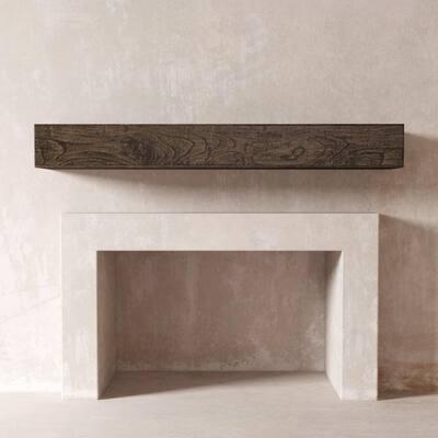 DESSIE 48 in. Fireplace Wall Cap-Shelf Mantel in Cafe Norie