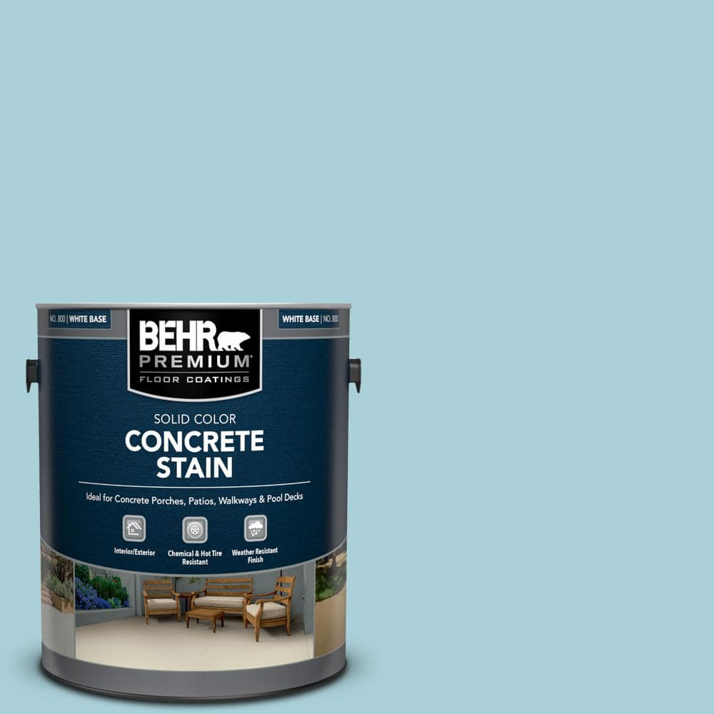 BEHR PREMIUM 10 gal. PFC 10 Pools of Blue Solid Color Flat  Interior/Exterior Concrete Stain 100   The Home Depot