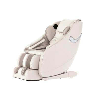 Therapy Series Ivory Fitness and Wellness Zero Gravity Massage Chair with Multi-Therapy Programming and Bluetooth