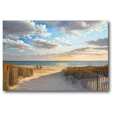 Sunset Beach Gallery-Wrapped Canvas Wall Art 36 in. x 24 in.