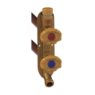 1/2 in. PEX x 16 in. L Model 22 Freezeless Brass Anti-Rupture Hot and Cold Vertical Sillcock