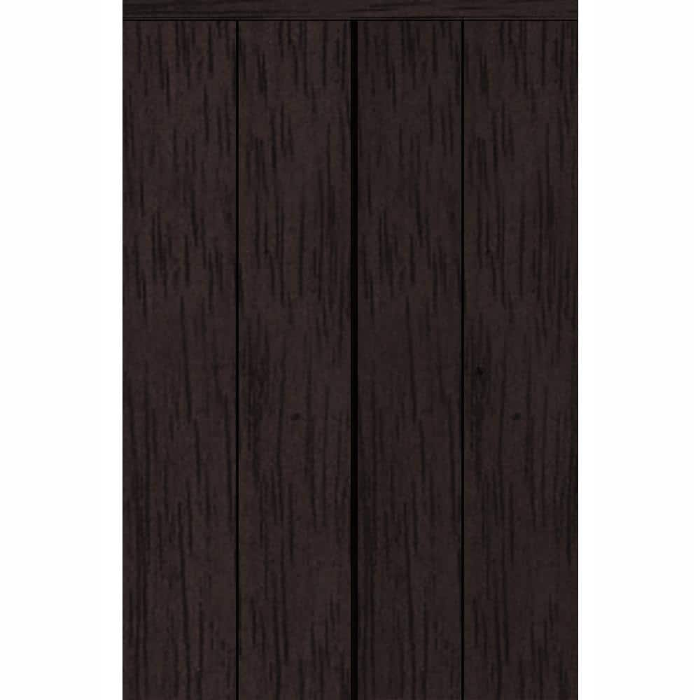 Impact Plus 66 In X 84 In Smooth Flush Espresso Solid Core Mdf Interior Closet Bi Fold Door With Matching Trim Bfe344 6684m The Home Depot