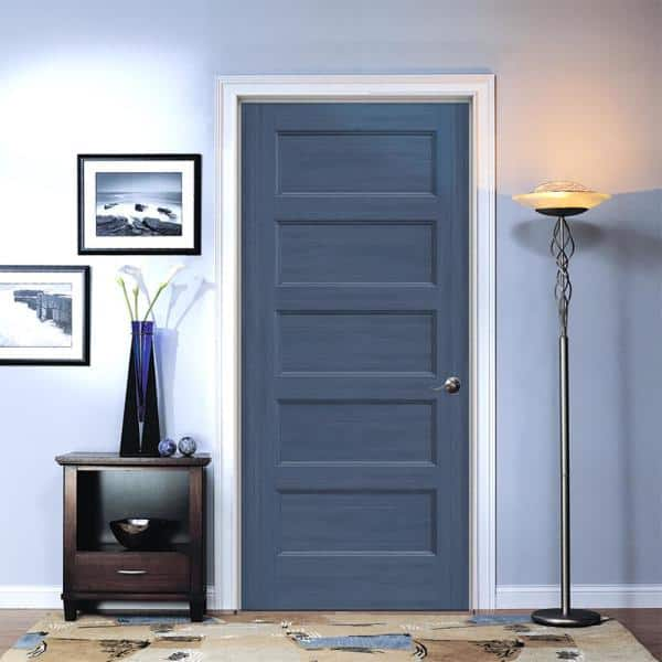 Jeld Wen 36 In X 80 In Conmore Denim Stain Smooth Solid Core Molded Composite Single Prehung Interior Door Thdjw236700234 The Home Depot