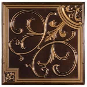 Madrid 2 ft. x 2 ft. Lay-in or Glue-up Ceiling Tile in Antique Gold (48 sq. ft. / case)