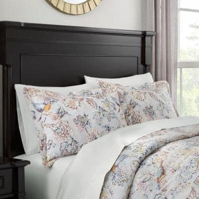 Lorna 3-Piece Bird Floral Comforter Set