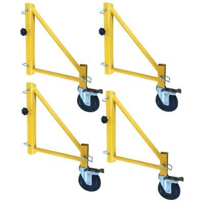 16 in. Outriggers for Scaffolding with Casters (4-Pack)