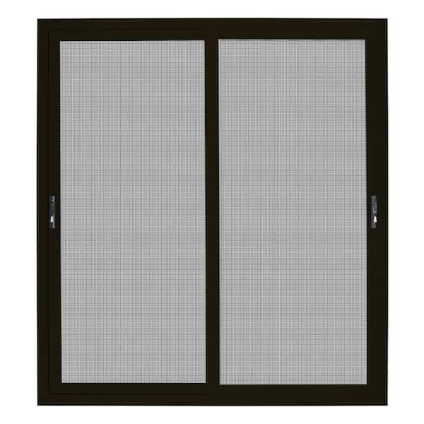 72 in x 80 in bronze sliding ultimate security patio screen door with meshtec screen
