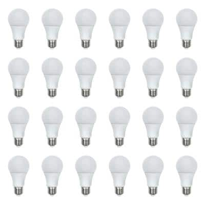 60-Watt Equivalent A19 General Purpose LED Light Bulb Daylight (24-Pack)