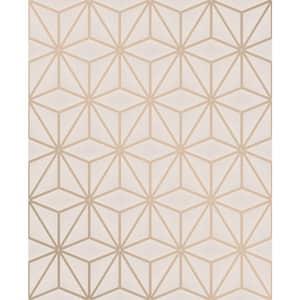 Augustin Rose Gold Geometric Rose Gold Wallpaper Sample