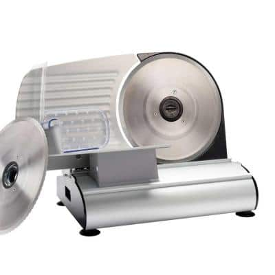 Mighty Bite 200 W SIlver Meat Slicer