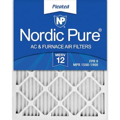 18 x 20 x 1 Allergen Pleated MERV 12 - FPR 9 Air Filter (12-Pack)