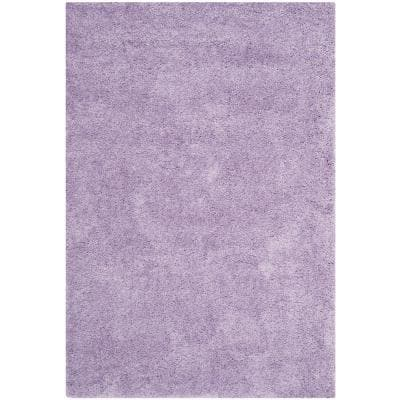 California Shag Lilac 7 ft. x 10 ft. Solid Area Rug