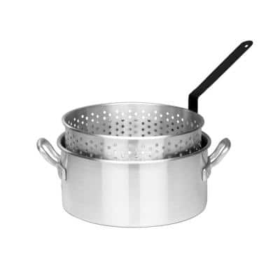 10 Qt. Aluminum Fry Pot with Basket