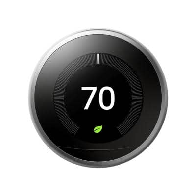 Nest Learning Thermostat - Smart Wi-Fi Thermostat - Stainless Steel