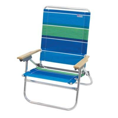 Rio 4 Position Easy In Easy Out Fish Print Beach Chair