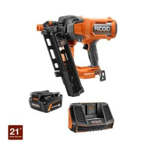 18V Brushless Cordless 21° 3-1/2 in. Framing Nailer Kit with 4.0 Ah MAX Output Lithium-Ion Battery and Charger