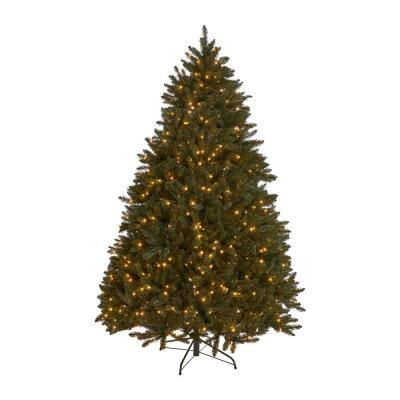 7 ft. Pre-Lit Norway Spruce Hinged Artificial Christmas Tree with 700 Clear Lights