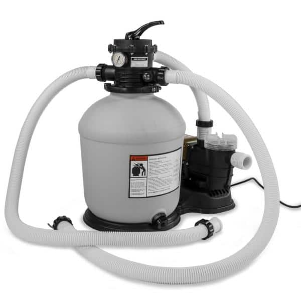 Xtremepowerus 16 In Sand Filter System With 3 4 Hp 3100 Gph Above Ground Swimming Pool Pump 75131 H The Home Depot