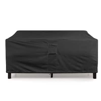 Medium Black Love Seat Weatherproof Outdoor Patio Sofa Protector Cover