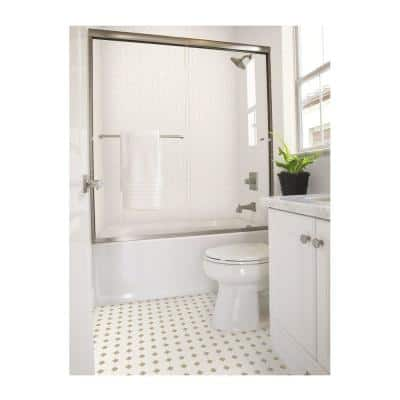 Matte White Octagon Dot 12 in. x 12 in. x 6 mm Ceramic Mosaic Floor and Wall Tile (1 sq. ft./Each)