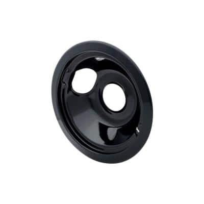 6 in. Drip Bowl in Black Porcelain - Fits Specific