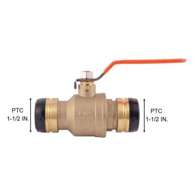 1-1/2 in. Push-to-Connect Brass Ball Valve Fitting