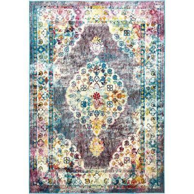 Patio Starlight Multi 7 ft. 9 in. x 10 ft. 2 in. Indoor/Outdoor Area Rug