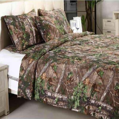 Xtra Green Geometric King Comforter