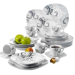 Zoey 30-Piece Casual Ivory White Porcelain Dinnerware Set (Service for 6)