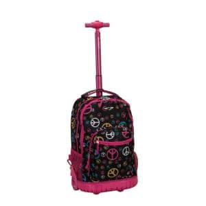 Rockland Sedan 19 in. Rolling Backpack, Peace