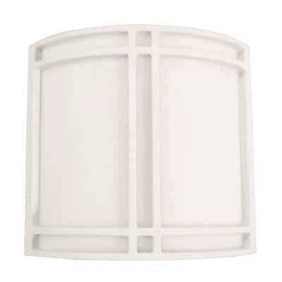 Multi-Use 2-Light White Fluorescent Surface Mount Sconce