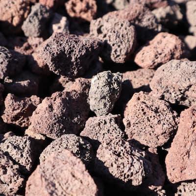 0.33 cu. ft. 30 lbs. 1/2 in. to 1 in. Burgundy Decorative Lava Rock