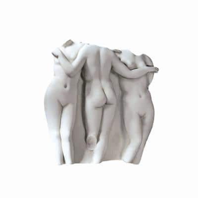 31 in. x 29 in. Three Graces Large Scale Wall Fragment Sculpture