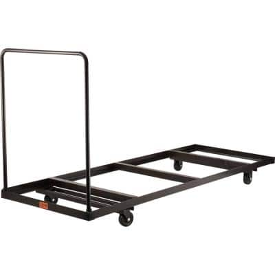 660 lbs. Weight Capacity Folding Table Dolly for Horizontal Storage - Up to 96 in. L