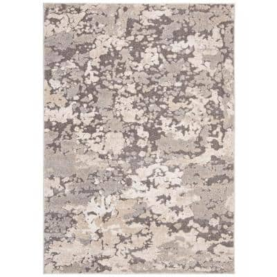 Spirit Taupe/Gray 9 ft. x 12 ft. Area Rug