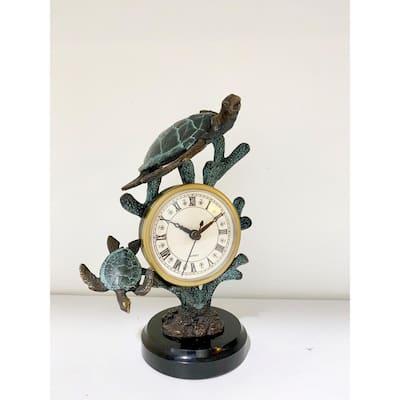 Verdigris Turtle Clock