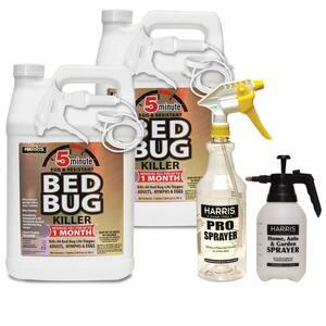1 Gal. 5-Minute Bed Bug Killer (2-Pack) 256 oz., 32 oz. Professional Spray Bottle and 55 oz. Pump Sprayer Value Pack
