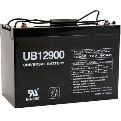 12-Volt 90 Ah I4 Terminal Sealed Lead Acid (SLA) AGM Rechargeable Battery