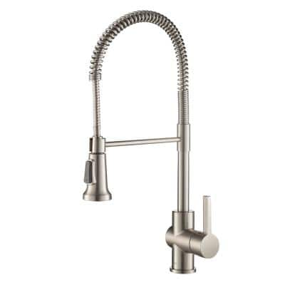 Britt Single-Handle Pull-Down Kitchen Faucet with Dual Function Sprayhead in All-Brite Spot Free Stainless Steel