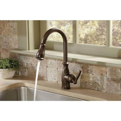 Brantford Single-Handle Pull-Down Sprayer Kitchen Faucet with Reflex and Power Boost in Oil Rubbed Bronze