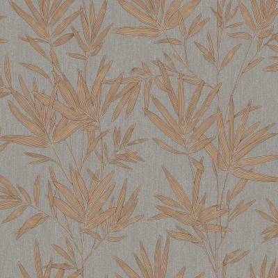 BoTanical Leaves Copper Vinyl Strippable Roll (Covers 56 sq. ft.)