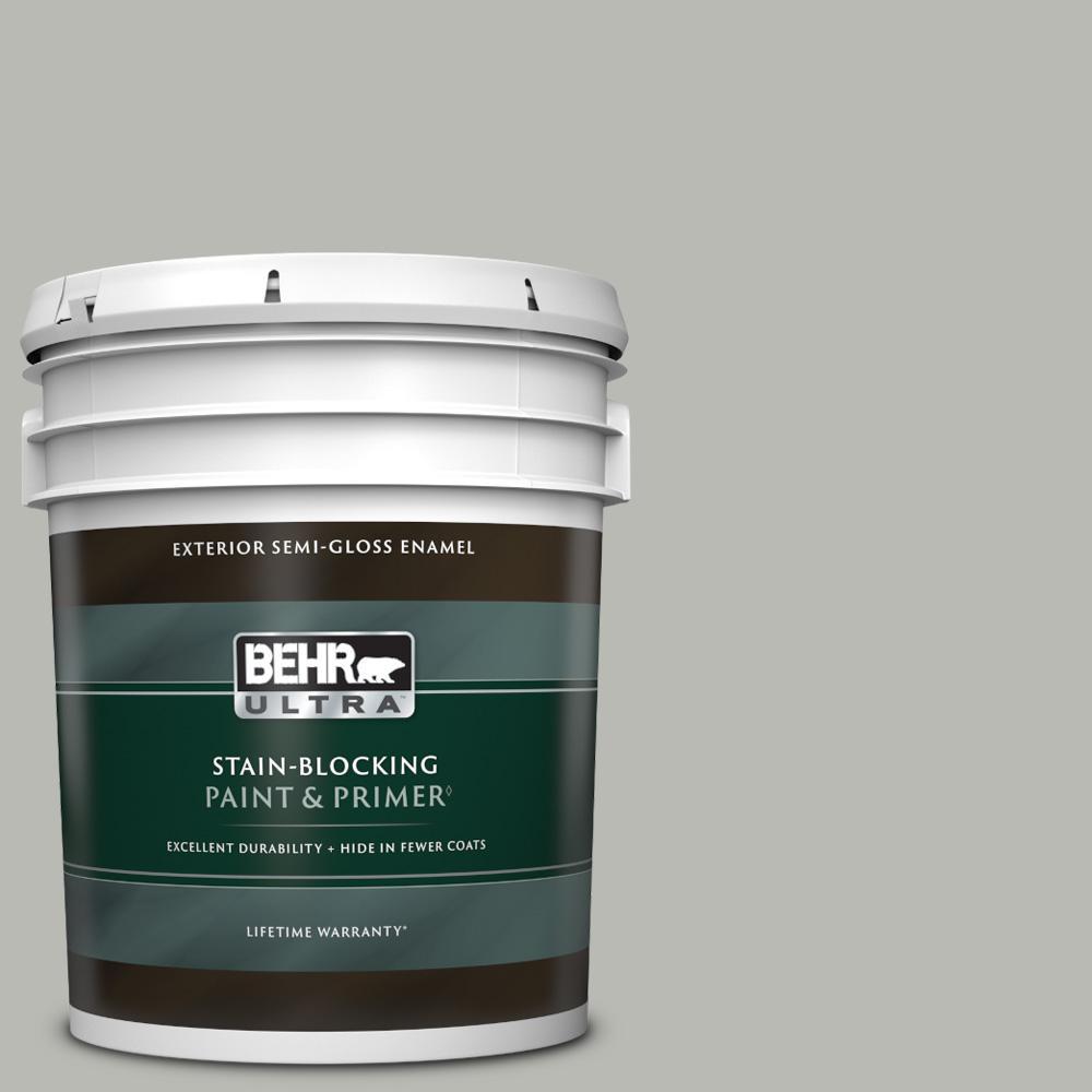 5 gal. #PPU18-11 Classic Silver Semi-Gloss Enamel Exterior Paint & Primer