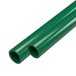 3/4 in. x 5 ft. Green Furniture Grade Schedule 40 PVC Pipe (2-Pack)