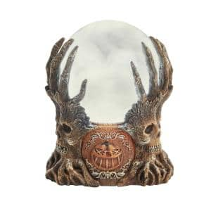 7 in. Battery Powered LED Spooky Pumpkin Spirit Crystal Ball
