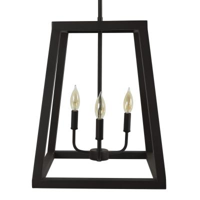 Reed 15 in. 3-Light Black Pendant