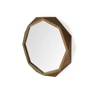 Homeroots Rosemary 32 In X 3 In Classic Rectangle Framed Brown Vanity Mirror 354818 The Home Depot
